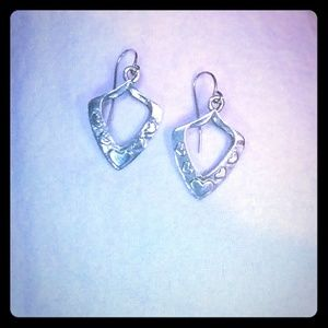 Jeep Collins sterling dangle earrings with hearts